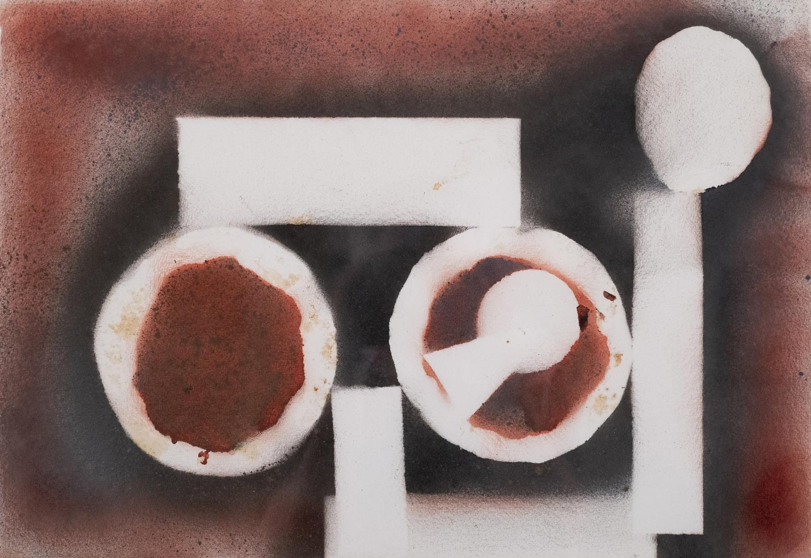 DAVID SMITH American, 1906-1965 . Untitled, 1962     Spray enamel on paper 21 x 27 in. (53.3 x 68.6 cm)