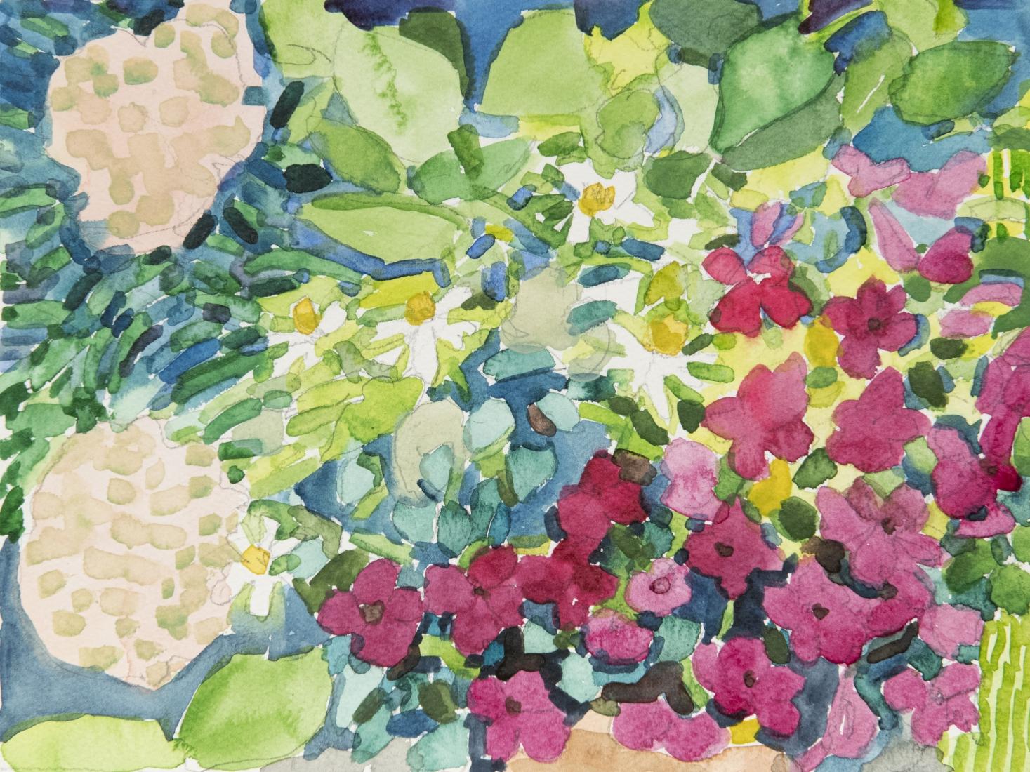 Pamela Sztybel (American, b. 1956) Flowers 3, 2020    Watercolor on paper 9 x 12 in. (22.9 x 30.5 cm)