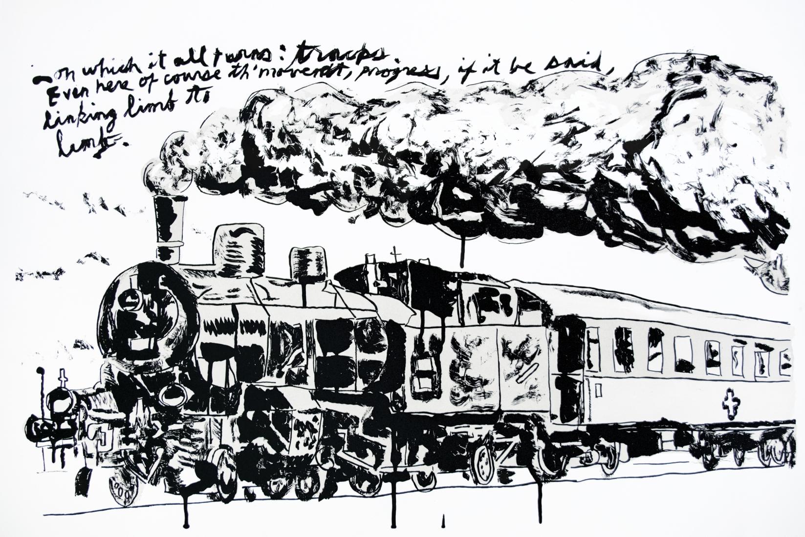 Raymond Pettibon: Untitled (Train)