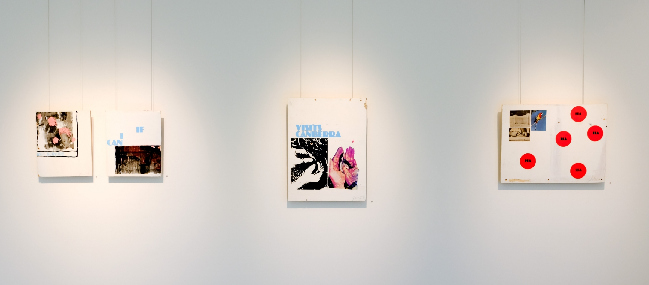 installation view of Jacob Boylan exhibition Dire Contact, at Lone Goat Gallery 2020