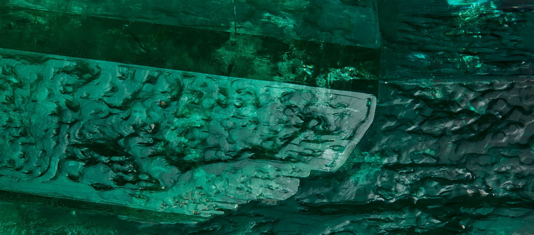 Emerald Detail Highlighting Surface Texture