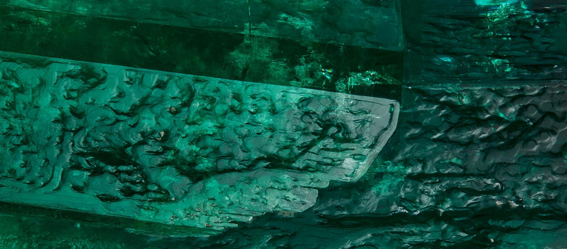 Emerald Detail Highlighting Surface Texture