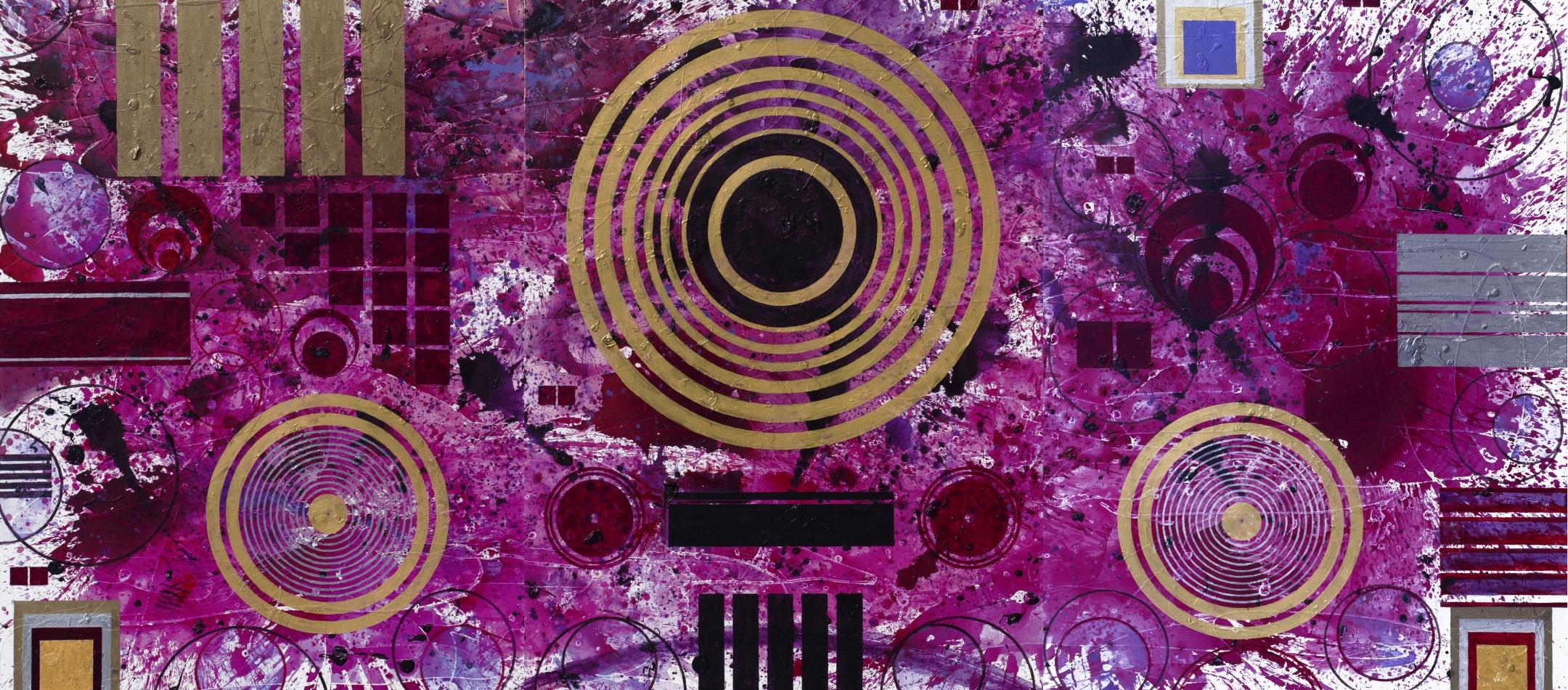 j. steven manolis, Qatari Rhapsodies painting series, For sale at Manolis Projects Art Gallery, Miami Fl
