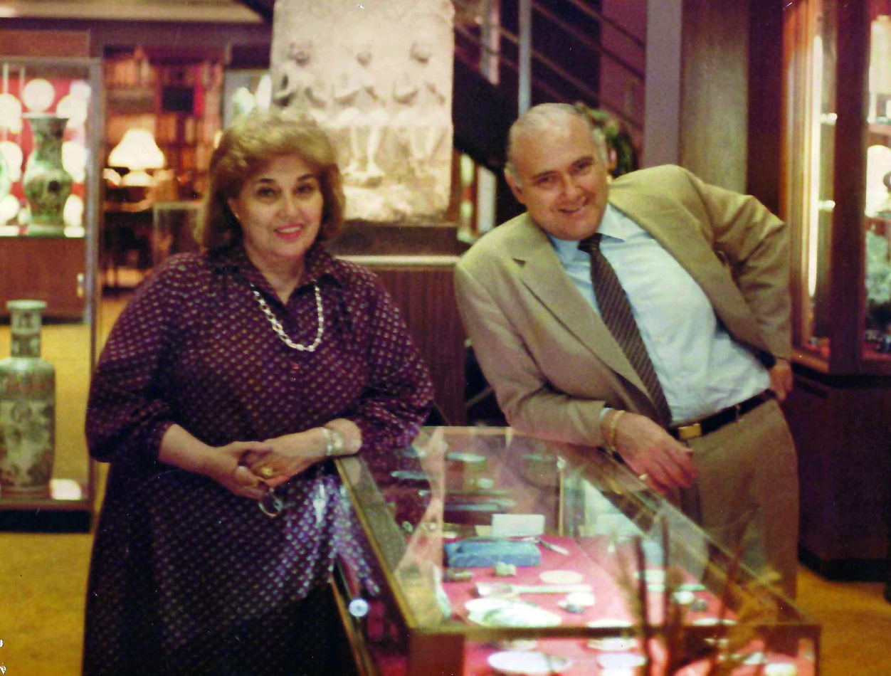 Marion Chait Howe and Allan S. Chait at 12 East 56th Street Gallery in the 1980's