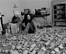 Hannah Wilke in her Broome Street studio