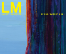 Luxury Magazine cover with Wayne Thiebaud Mountain Ridge
