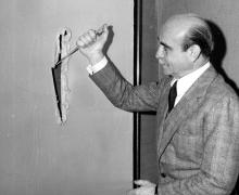 Photograph of Lucio Fontana
