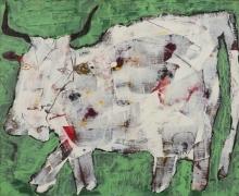 Jean Dubuffet, Vache aux cornes noires (Cow with Black Horns), August 1954