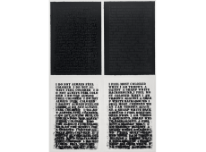 "Glenn Ligon in ""With Open Eyes: The Wake Forest University Student Union Collection of Contemporary Art"""