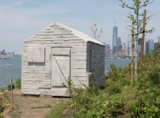 "Rachel Whiteread's public sculpture ""Cabin"""