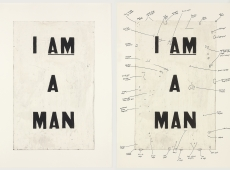 "Glenn Ligon and Charles Atlas in ""Elements of Vogue: A Case Study in Radical Performance"""