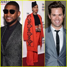 """Janelle Monae & Andrew Rannells Help Honor Usher at Gordon Parks Foundation Awards Dinner 2015!"""