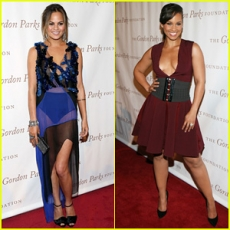 """Chrissy Teigen & Alicia Keys are Dressed to the Nines for Gordon Parks Foundation Awards Dinner!"""