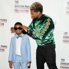 Usher and Son Attend 2017 Gordon Parks Foundation Awards Gala