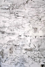 AMY SCHISSEL | PROMONTORIUM 2 | MULTIMEDIA ON PAPER | 59 X 40.5 INCHES | 2010