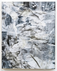 AMY SCHISSEL | DOUBLE STANDARD 5|PAINTING, ACRYLIC, OIL, GESSO, GRAPHITE, INK ON PAPER ON BOARD| 20X 24INCHES | 2016