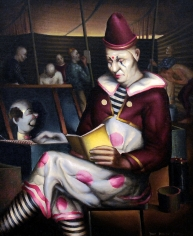 Paul Sample, Clown Reading