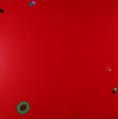 Naohiko Inukai, Untitled Red with Floating Dots