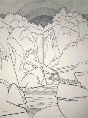 Easton Pribble, Rocks and Waterfall