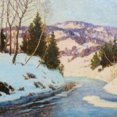 Walter Koeniger, Winter Hillside