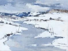 Paul Sample, River Valley