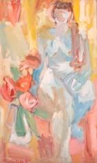 Miriam Laufer untitled oil painting.