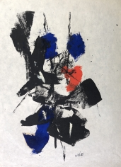 John Von Wicht untitled mixed media work on paper #VoJo136.
