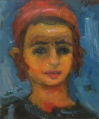 Jacques Zucker Portrait of a Boy Oil