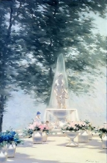 Andre Gisson A Stroll Through the Gardens Oil on Canvas