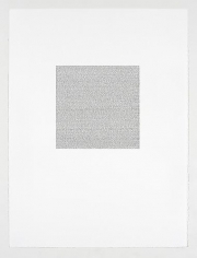 """May 2008 from the series Artforum, 2008,ink on paper,image: 10-1/2 x 10-1/2""""; sheet: 30 x 22-1/2"""""""