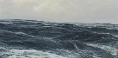 Swells, 2012,acrylic on panel,12 x 24 inches