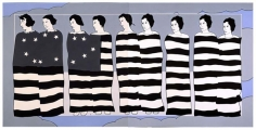 JOHN WESLEY, Nine Female Inmates of the Cincinnatti Workhouse Participating in a Patriotix Tableau, 1976