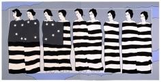 JOHN WESLEY, Nine Female Inmates of the Cincinnatti Workhouse Participating in a Patriotix Tableau,1976