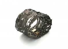 John Iversen, crackle, bracelet, gold, contemporary, jewelry