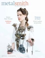 Hanna Hedman on the cover of Metalsmith Magazine