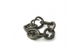 Sophie Hanagarth, forged iron bracelet, trap, Swiss, contemporary jewelry