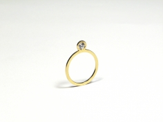 New Flat Diamond Ring