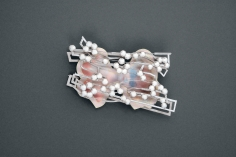 Norman Weber, German, brooch, contemporary jewelry