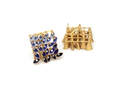 Jacqueline Ryan, gold, Italian jewelry, enamel, mini masterpieces