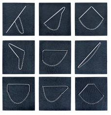Rebekah Frank brooches, after Sol Lewitt