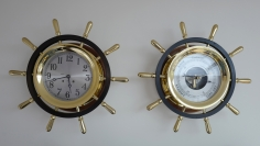 Chelsea 8 1/2 inch Pilot Clock and Barometer Set