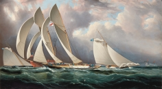 Yacht Racing Off Sandy Hook NYYC Ragatta June 14, 1877 by JE Buttersworth