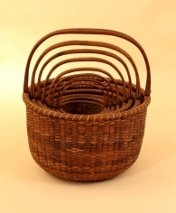 Nest of Eight Nantucket baskets by Andrew Sandsbury
