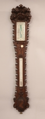 Lavishley Carved Stick Barometer with Carved Portrait of George Washington by Benjamin Pike & Sons