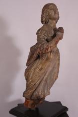 Full Figure American Figurehead of a Lady Holding a Rose