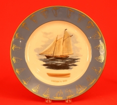Set of Five Gorham America's Cup Plates