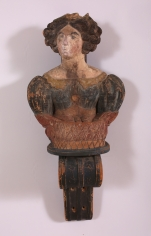 Small Ships Figurehead of a Lady in Original Painted Surface