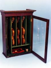 Mahogany Felt Lined Hanging Violin Case