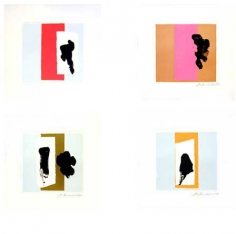 Robert Motherwell The Berggruen Series, 1979-80 Suite of four color lithographs 16 x 16 1⁄2 in. / 40.6 x 41.9 cm. each Edition of 100