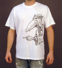 Rat Unisex White T-Shirt
